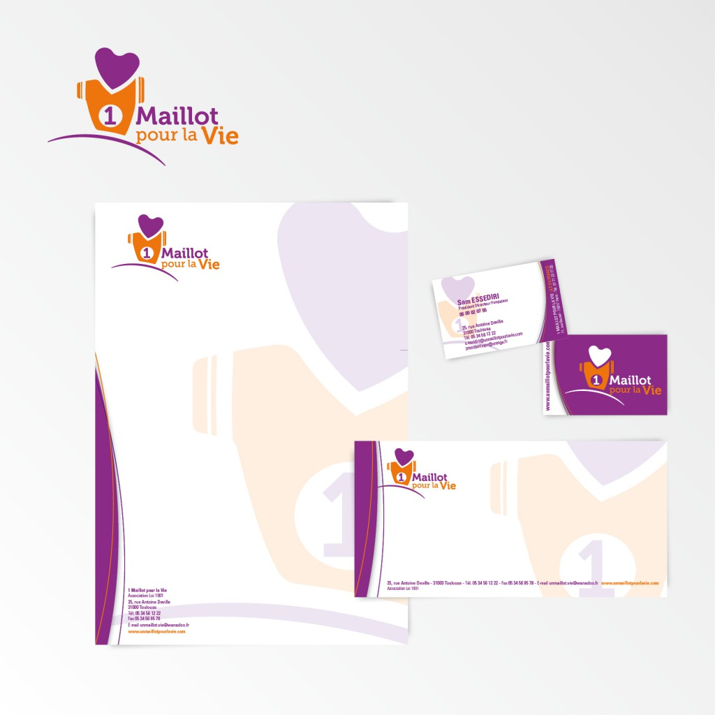 1 Maillot pour la Vie | Restylage du logotype et charte graphique