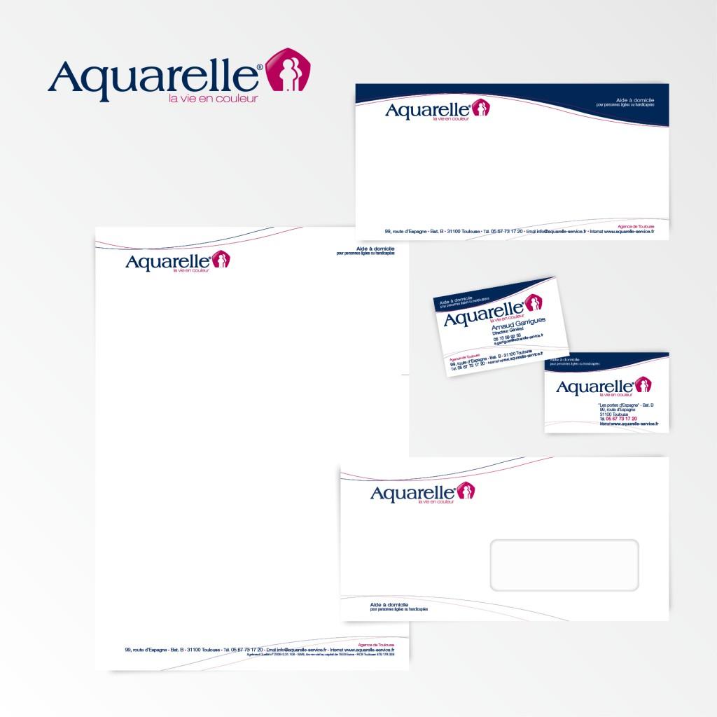 Aquarelle | Création du logotype et charte graphique