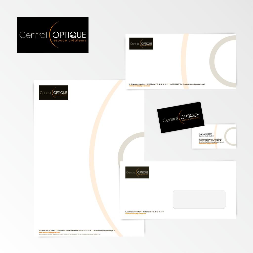 Central Optique | Création du logotype et charte graphique