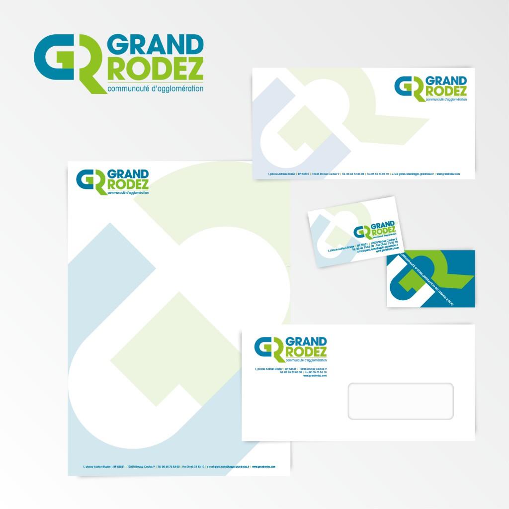 Communauté d'Agglomération du Grand Rodez | Création du logotype et charte graphique