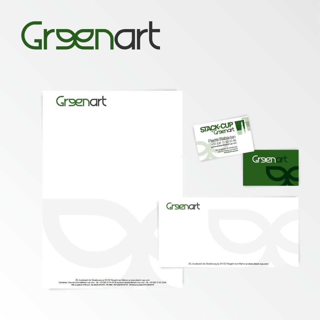 Greenart | Création du logotype et charte graphique