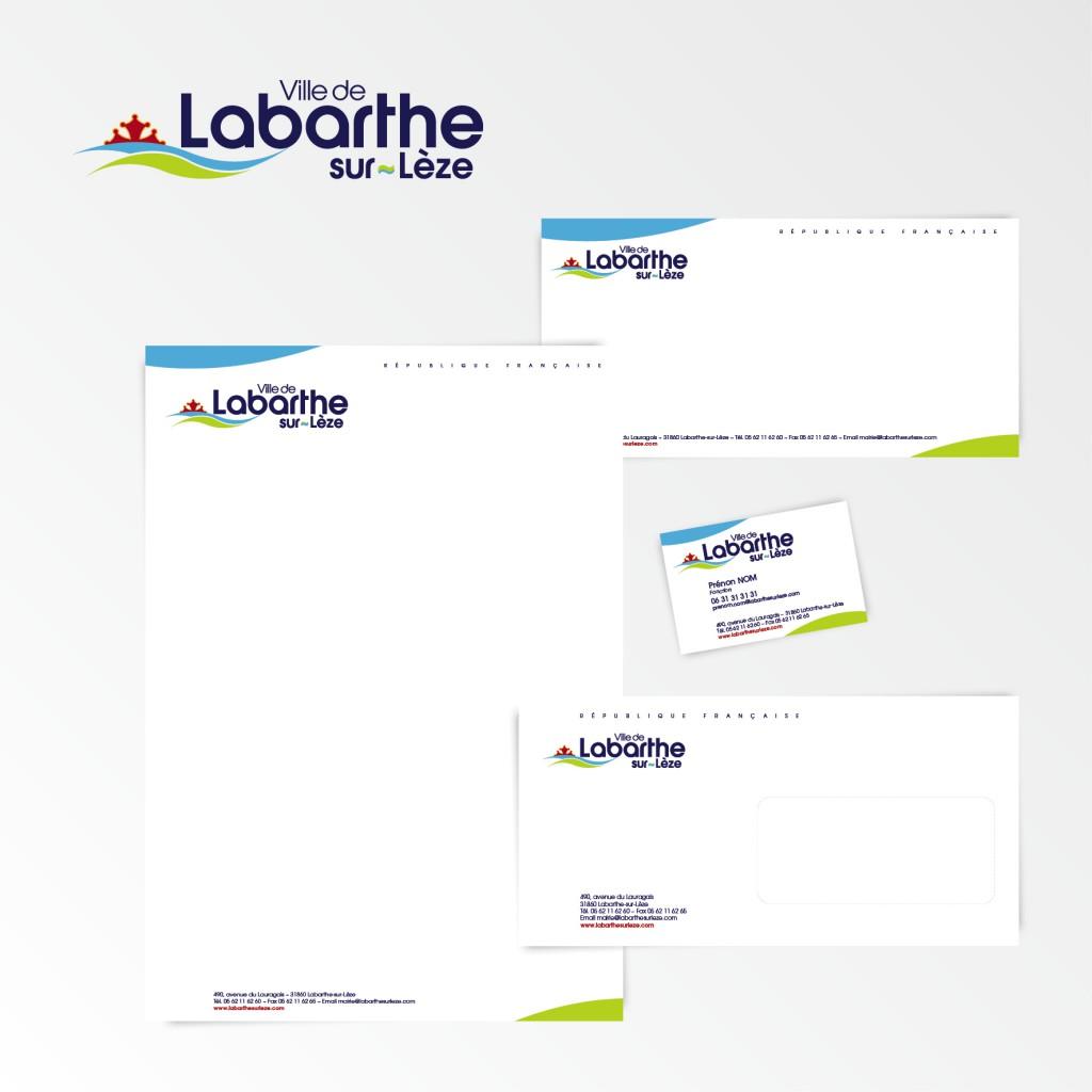 Labarthe-sur-Lèze | Création du logotype et charte graphique