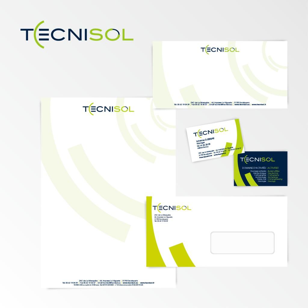 Technisol | Création du logotype et charte graphique