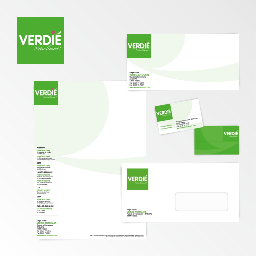 Verdié Autocars | Restylage du logotype et charte graphique
