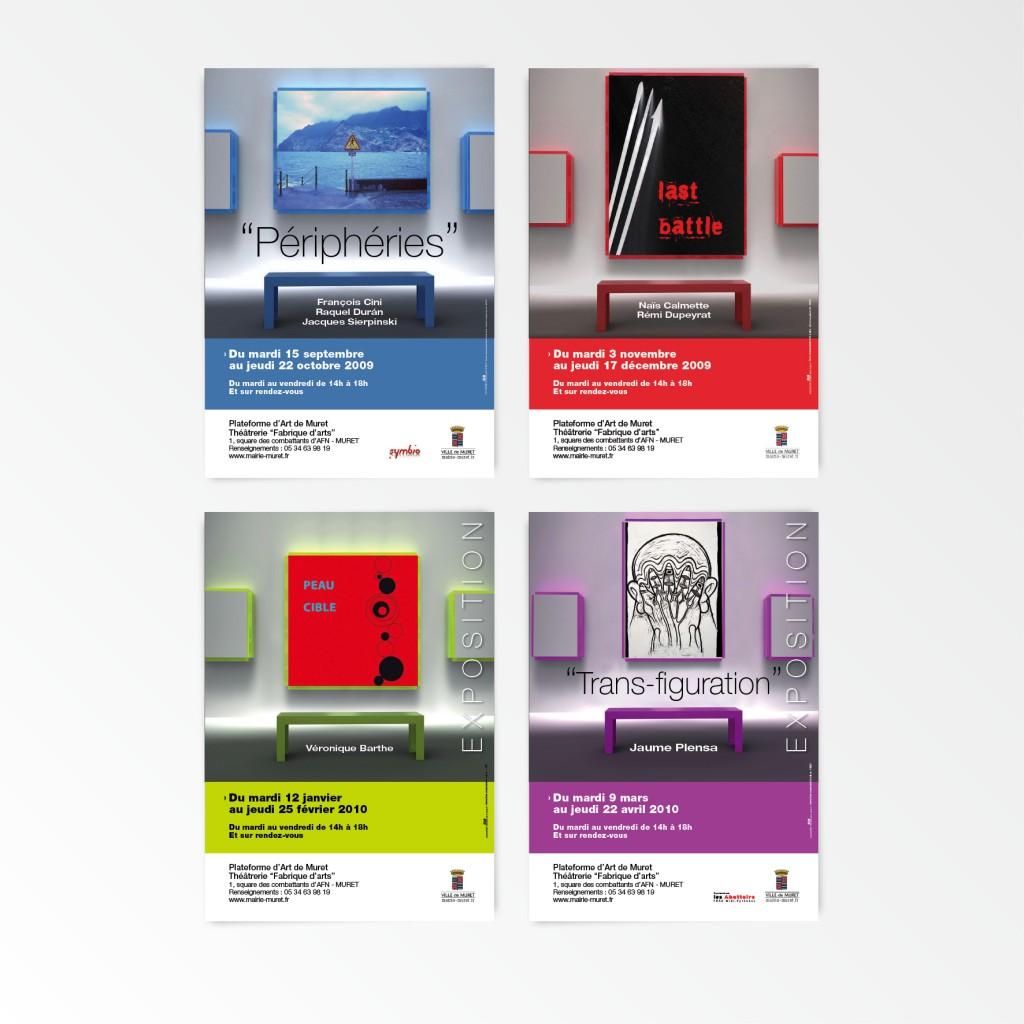 Mairie de Muret | Série d'affiches pour expositions | 120x176 - A3